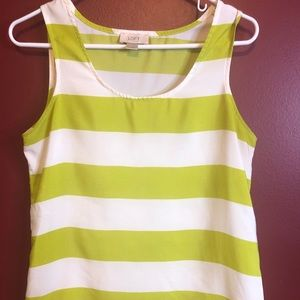 Ann Taylor Loft Striped Tank